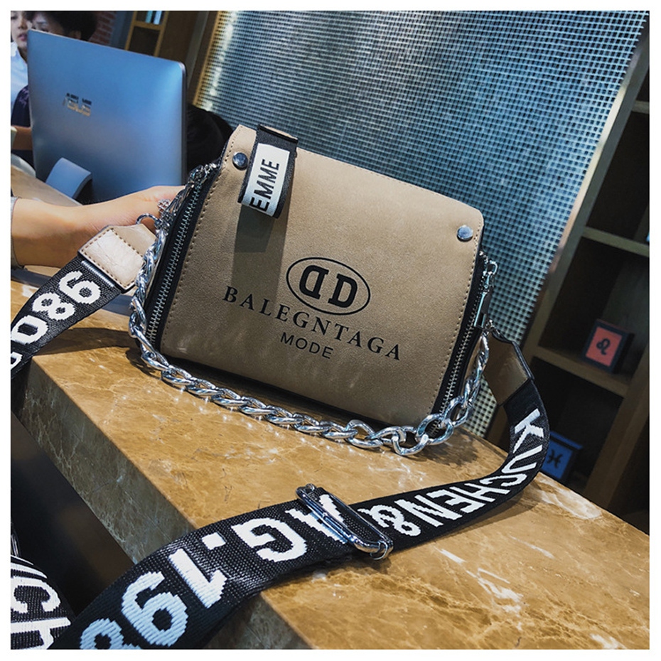 HTB1vKSnJCrqK1RjSZK9q6xyypXaC - Women's Leather Messenger Bag | Wide Strap Chains