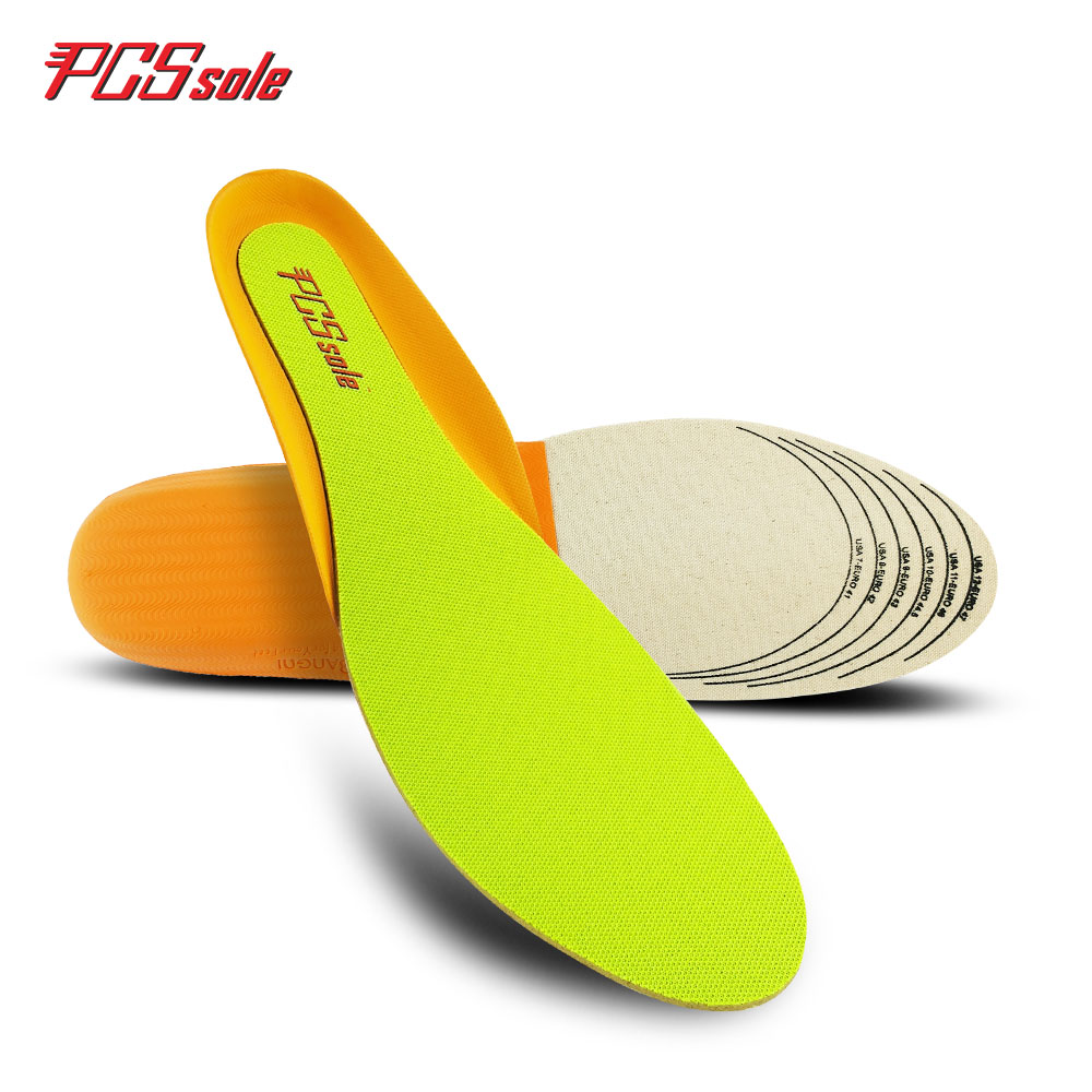Original PCSsole deodorant breathable insoles for man shock absorption arch support shoes pad free size A1001 pu shock absorption arch support insoles