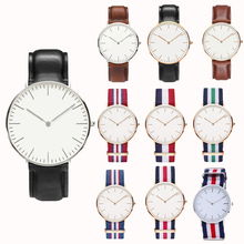 1PC Women Men Watches Leather Boys Girls Military Quartz Watch Relax Simple Multicolor vogue watches Mini Cute Gifts for guys