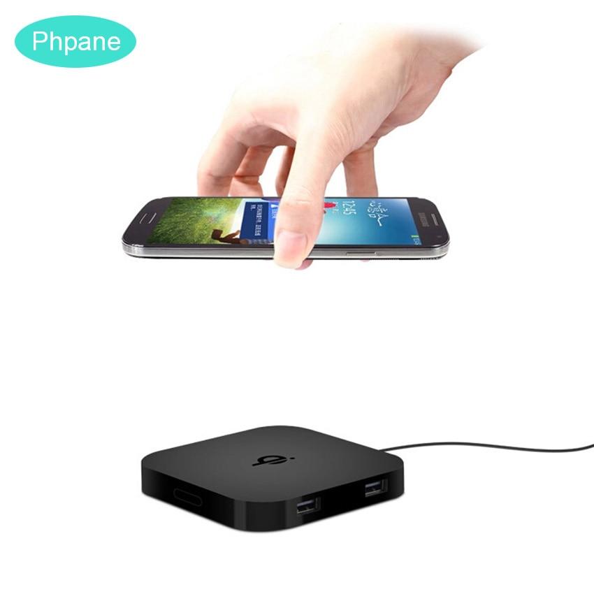 Duplo Dual Usb Qi Carregador Sem Fio Pad Fino Portátil Chargeur 8 Indução Indutivo de Carregamento Sem Fio Para Samsung Nota