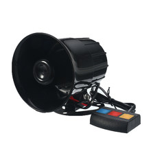 30W 12V 3 Tone Sound Loud Car Motorcycle Warning Alarm Police Fire Siren Horn PA Speaker System(China)