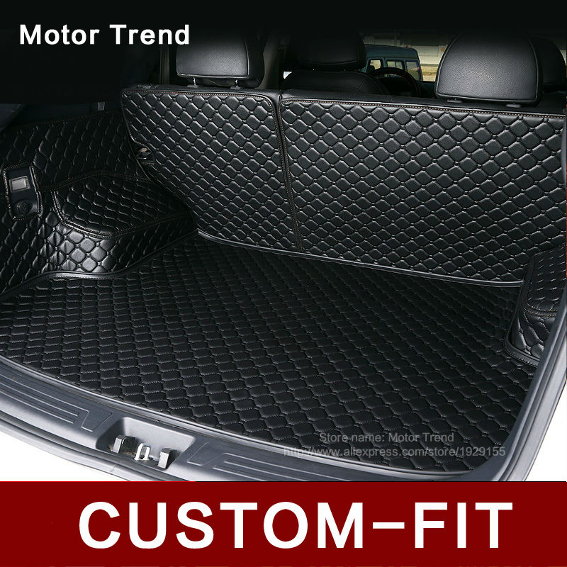 Custom fit car trunk mat for Land Rover Discovery 3/4 2 Sport Range Rover Sport Evoque 3D car styling tray carpet cargo liner single and double car travel front back seat cover mattress inflatable bed for land rover discovery 3 4 2 sport range rover