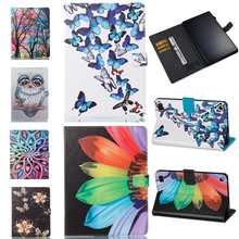 PU Leather Stand For Amazon Kindle Fire HD 7 2017 Case card slot Protector back cover All New Fire7 Tablet