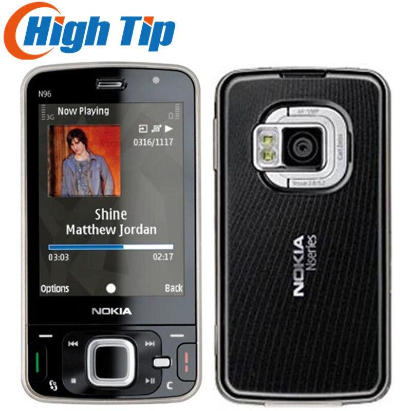 100% débloqué original Nokia Marque N96 téléphone GSM 3g 16 gb mémoire interne WIFI GPS 5MP, 1 an Rénové Livraison gratuite