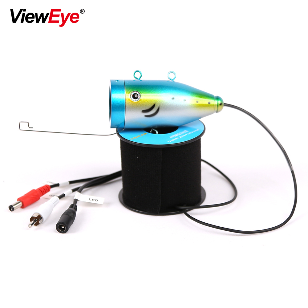 ViewEye Single Underwater Fishing Camera Accessories For 7 inch Fish Finder 12 LED IR Infrared Lamp