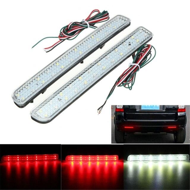 2x 24 LED Rear Bumper Reflector Parking Brake Running Turning Light ...