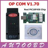 2017 Nova V1.70 OPCOM OP com opel com Melhor PCB Verde PIC18F458 Real chip OBD2 CAN BUS para Opel obd2 diagnóstico Profissional ferramenta