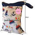 HappyFlute Dual Pockets Wetbag, Diaper Bag, Dual Zippers with Handle