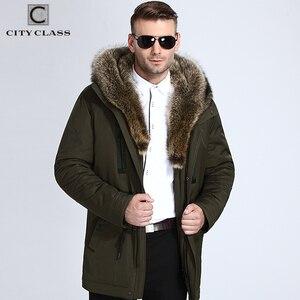 Image 2 - City Class Fur Winter Jackets Mens Super Warm Parkas Camel Hairs Filling with Raccoon Hood big fur winter coat thicken parka 839