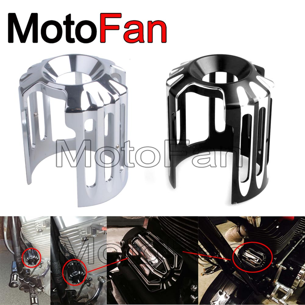 Motorcycle Oil Filter Cover Replacement Machine Grid Billet CNC Aluminum for Harley Davidson 1200 custom hd exhaust nightster nicecnc cnc billet oil filler plugs axle
