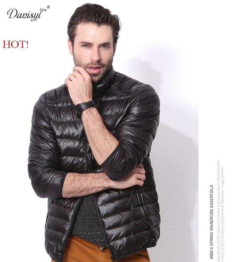 Danisyl New Casual Brand Winter Men 90% White Duck Down Jacket Men Ultra Light Down Jackets Winter Coat Parkas with Carry Bag