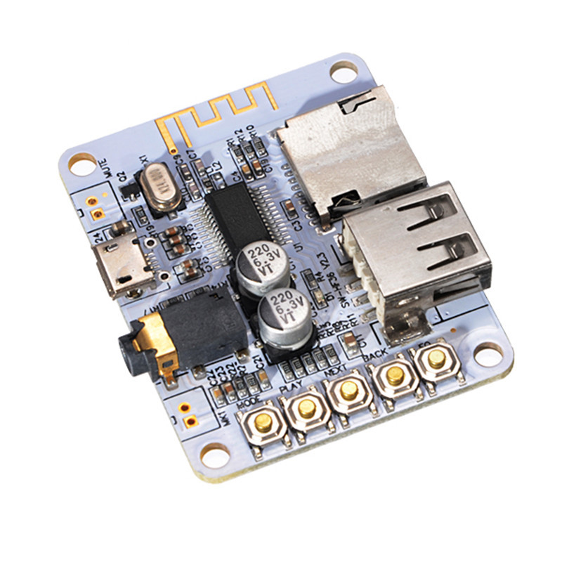 bluetooth Audio Receiver Digital Amplifier Board With USB Port TF Card Slot Decoding Play Durable Modules Board