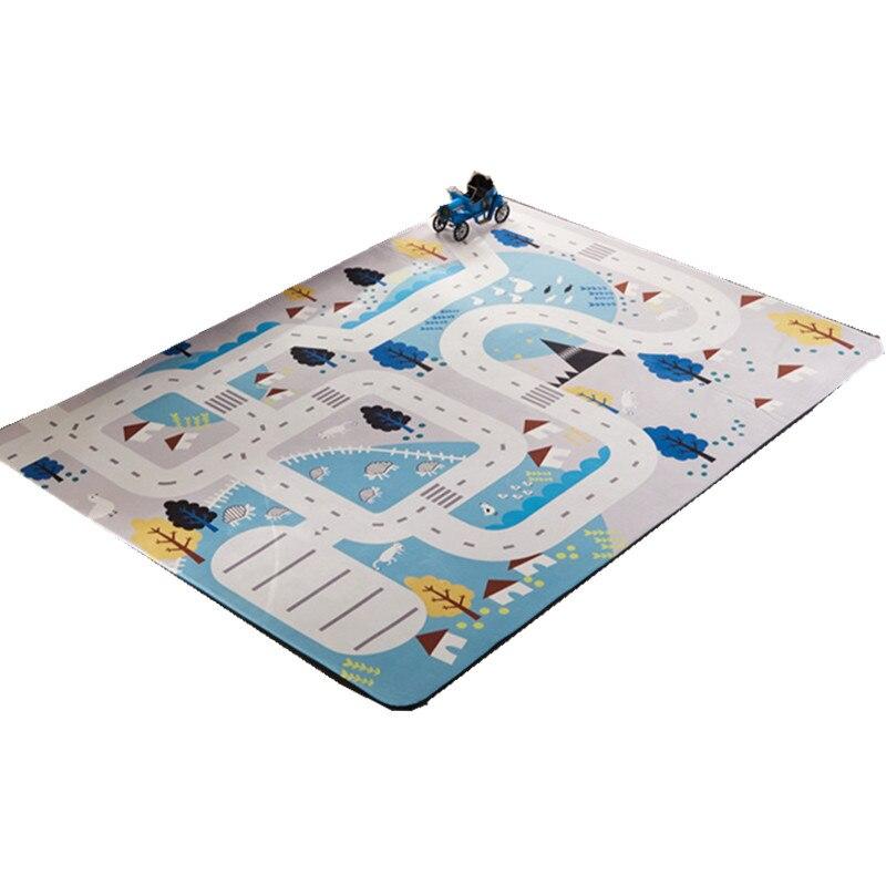 Tapis de jeu brillant pour bébé tapis de salon épaissi tapis en daim tapis rampant antidérapant pour enfants tapis d'escalade tapis de jeu Non toxique - 4