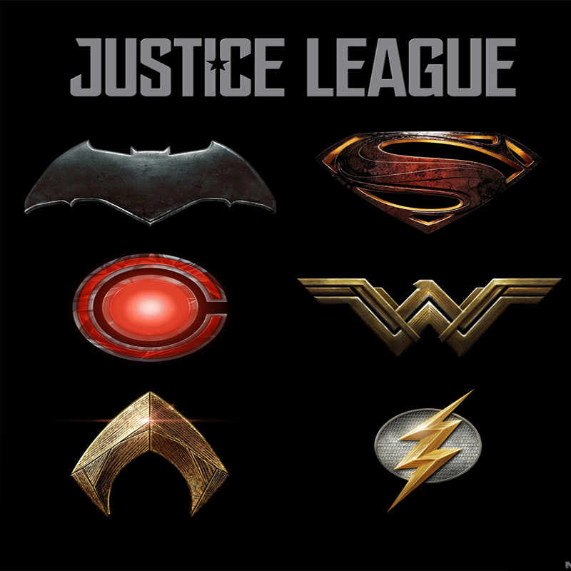 Justice League Batman/Superman/Wonder Woman/The Flash/Aquaman /Victor Stone Brooches for Women Men collection brooch pin