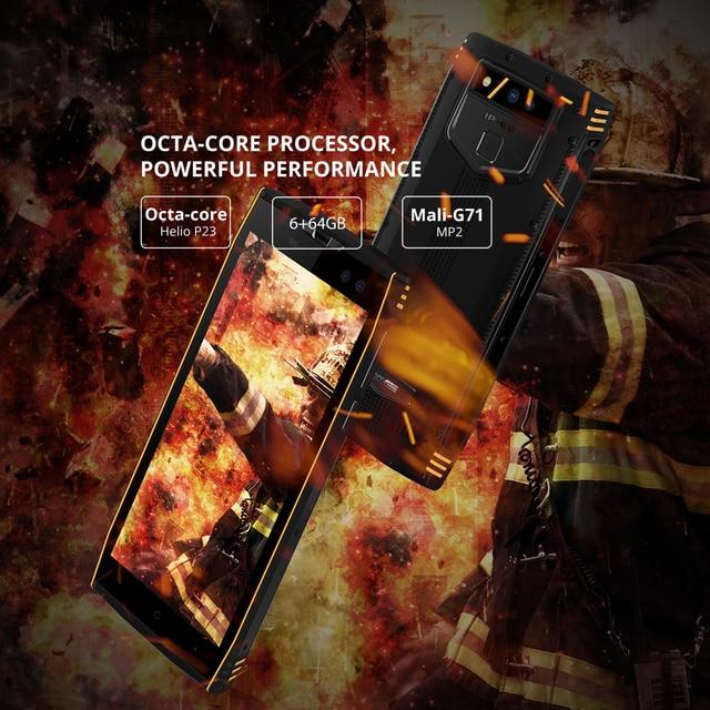 DOOGEE S50 IP68 Waterproof Smartphone 5180mAh Fast Charge 5.7'' Display MTK6763T 2.5 GHz Octa Core 6GB 64GB 16.0MP Quad Cameras