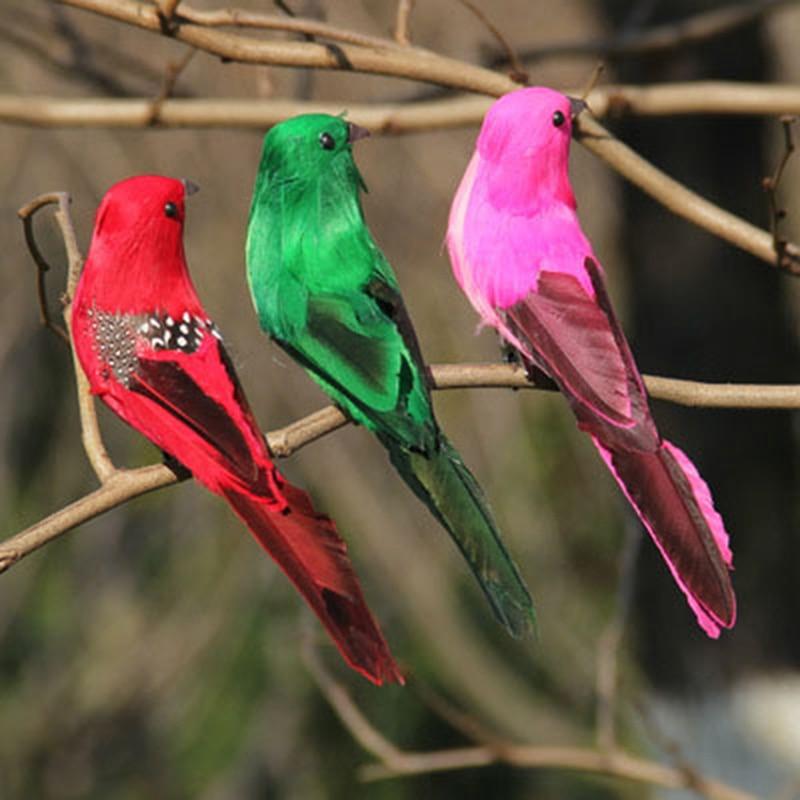 Random Color Artificial Foam Feather Simulation Bird DIY Party Crafts Magnet Decorative Doves Artificial Foam Feather