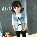 Autumn 2017 Children Clothing Boy Girl Jeans Coat Outwear Girls Denim Jacket For Girl Kids Clothes