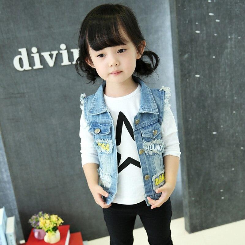 Hurave Autumn 2017 Children Clothing Boy Girl Jeans Coat Outwear Girls Denim Jacket For Girl Kids