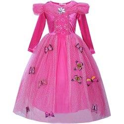 Meninas princesa borboleta vestido de renda adolescente menina halloween vestodis custome carnaval fantasiar-se crianças brithday natal roupas