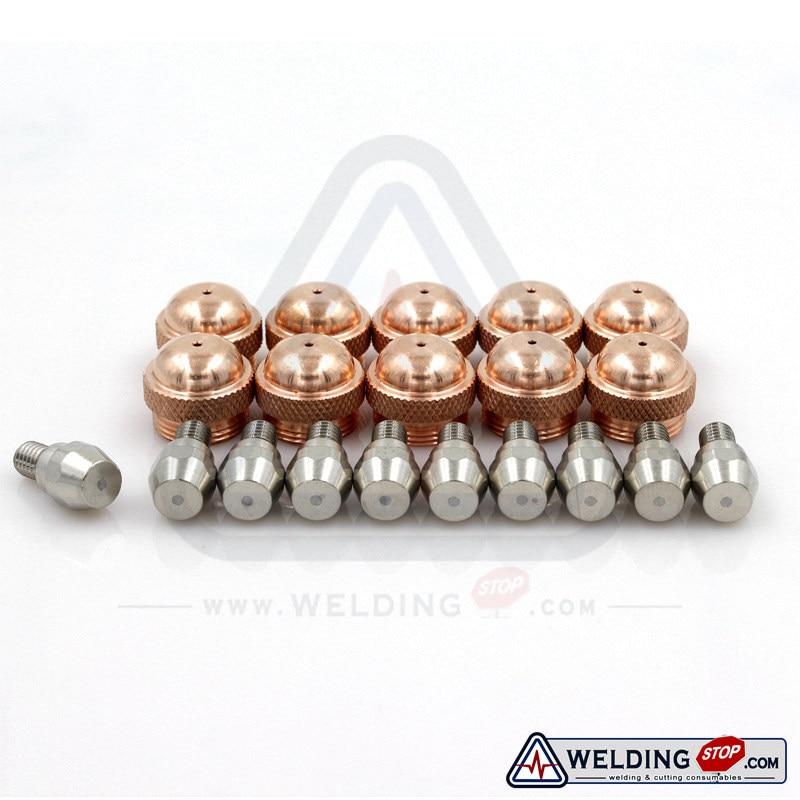 Binzel Abicor PSB 60 121 Plasma cutting torch after market electrode  amp  nozzle tips 743 0441 743 0132 PKG 20