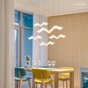 Image 3 - Asılı dekor DIY Modern Led kolye ışıkları yemek odası için mutfak odası Bar süspansiyon armatür suspendu kolye lamba
