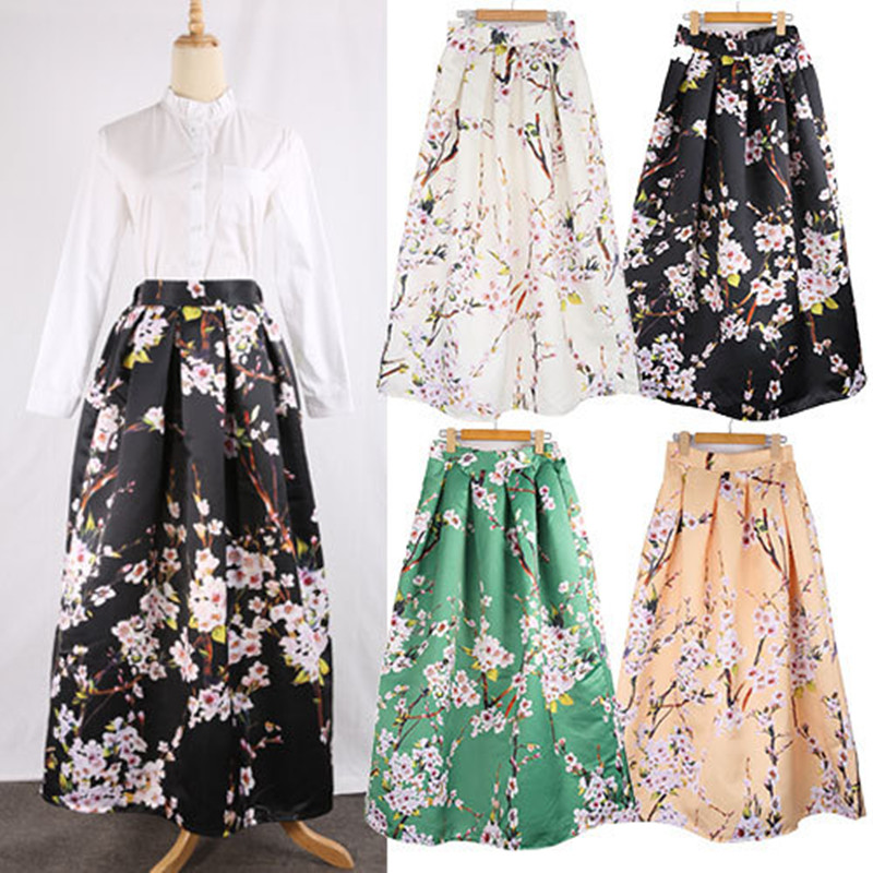 floral high waisted skirt neophil 100cm muslim womens maxi long skirts flower floral 6975