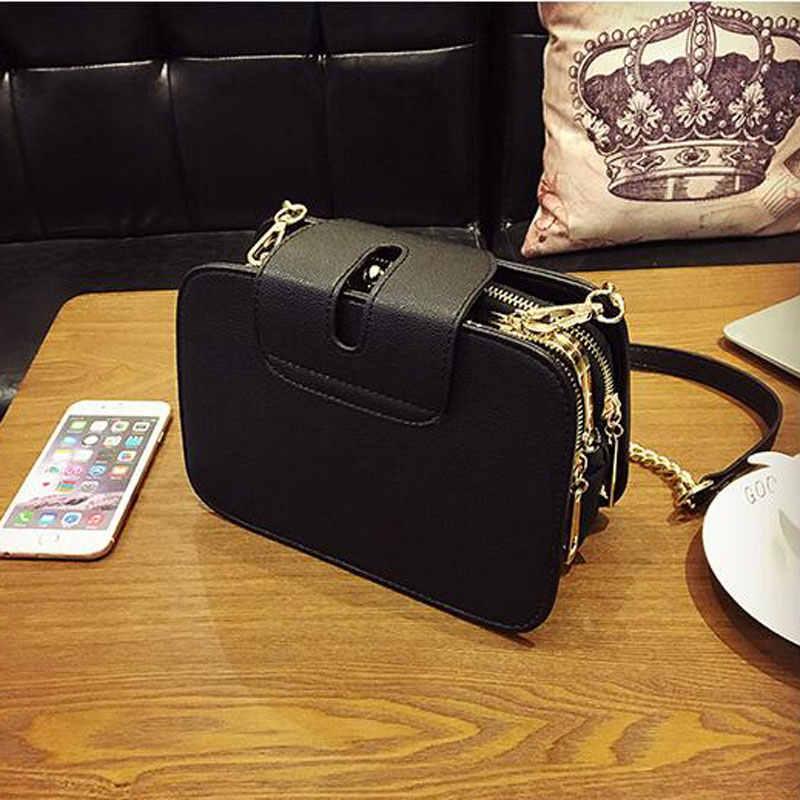 a421becc9a ... 2018 Spring New Fashion Women Shoulder Bag Chain Strap Flap Designer  Handbags Clutch Bag Ladies Messenger ...
