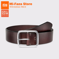 New Xiaomi Mijia Qimian Leisure Cow Leather Belt Five Hole Two Color 38mm Width Man Alluminum