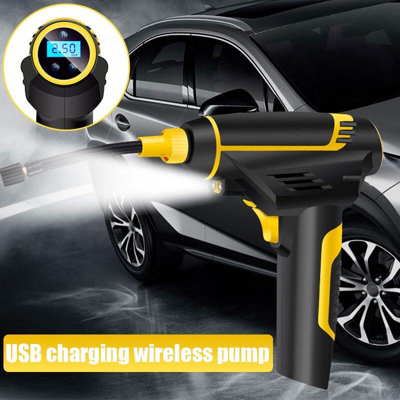 Надувной насос автомобильный воздушный насос умный Авто воздушный насос электрический насос Пневматический велосипеды Цифровой портативный беспроводной