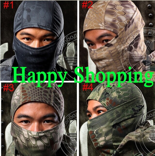 Breathable Chiefs Rattlesnake Cam Tactical Mask Airsoft Paintball Full Face Motorcycle Cycling Hunting CS Balaclava helmets  -  amy song's store store