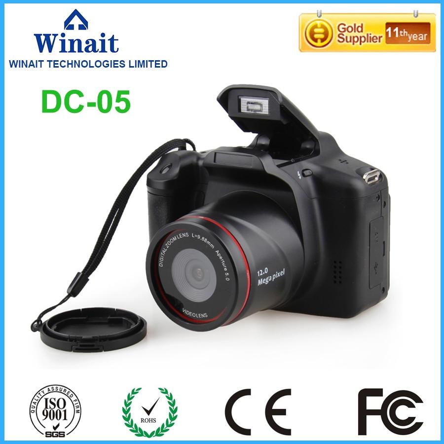 все цены на  Freeshipping Warranty 1 Year 64GB 12MP Digital Camera With 4x  Digital Zoom Mini Camera HD 720P Video Camera Professional DC-05  онлайн