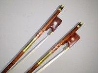 2 PCs Cobra madeira Cello Bow 4/4 com Sapo madeira Serpente arco de cabelo branco