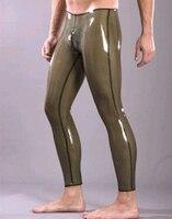 Latex Transparent Black Pants for Men Rubber Trousers Male Plus Size Hot Sale