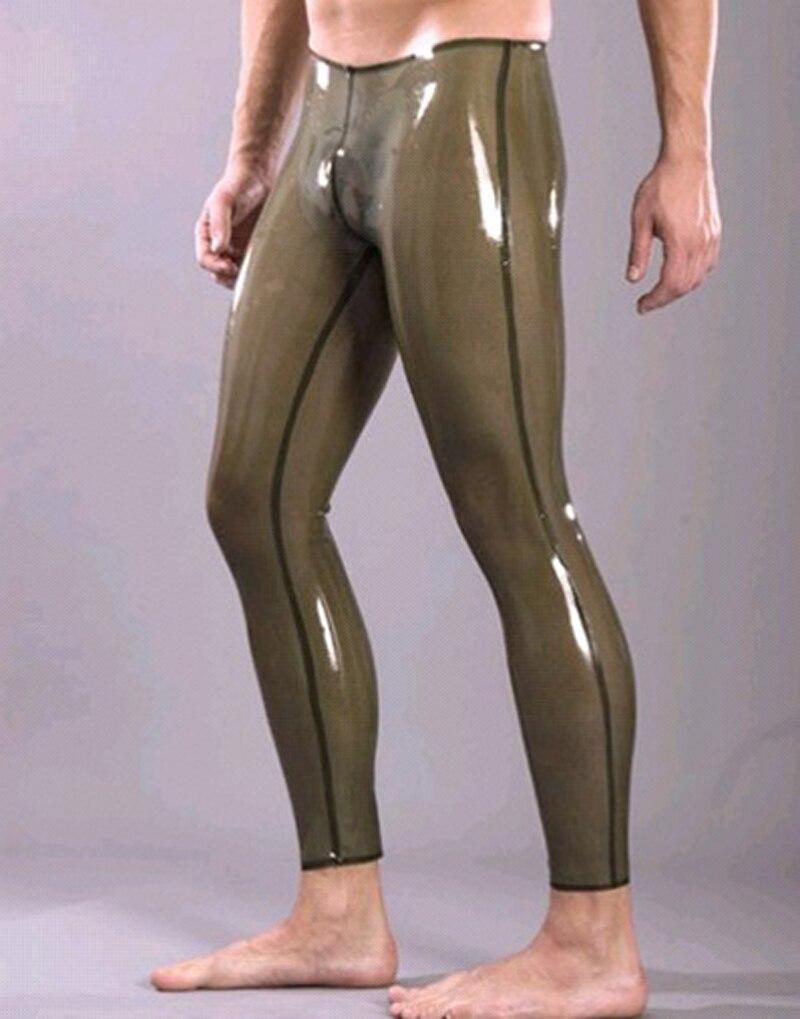 Latex Transparent noir pantalon pour hommes en caoutchouc pantalon mâle grande taille offre spéciale