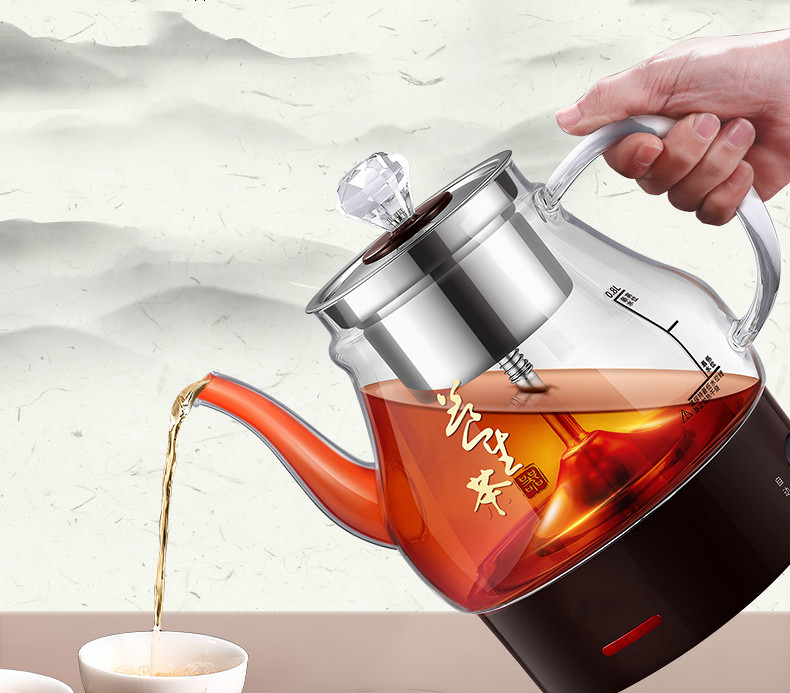 Steam tea boiler glass household transparent automatic electric kettle steaming black infuser pu 'er 2013 year puerh tea 100g puer ripe pu er pu erh pu er tea pc57 the health care chinese lose weight puer tea free shipping