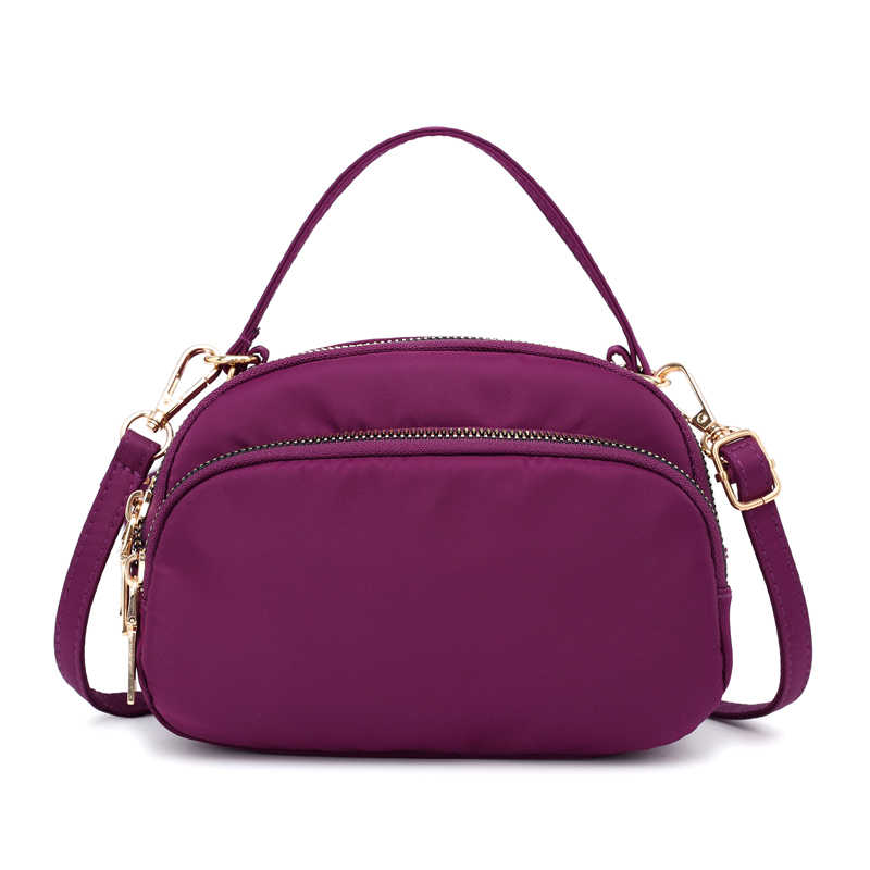 40d4cf1f60d1 Fashion Lightweight Nylon Women Handbag Small Waterproof Practical Portable  Phone Bag Casual Travel Shoulder And Crossbody