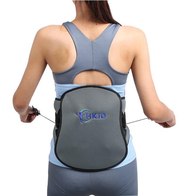 High Grade Breathable Lumbar Belt Lumbar Orthosis Waist Brace Relieve Pain Waist Belt with Pulley System khaki ruffle waist pants with belt