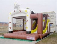High Quality Cheap Price Inflatable PVC Bounce House With Slide