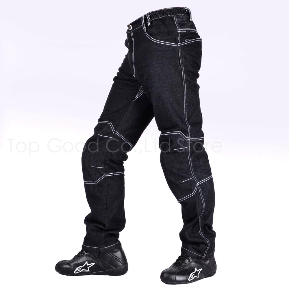 Top Good Motorcycles Pants Riding Denim Jeans racing pants Adult Pants Loose Jeans Black NZK-713