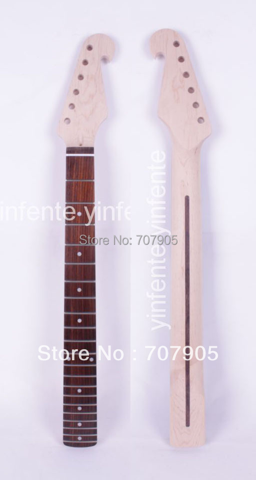 1x New Electric guitar neck Rosewood Fretboard 21 fret 25.5 Truss Rod Unfinished Free shipping 2 holes aluminum alloy guitar truss rod cover bell shape fits for epiphone les paul lp for electric guitar replacement part new