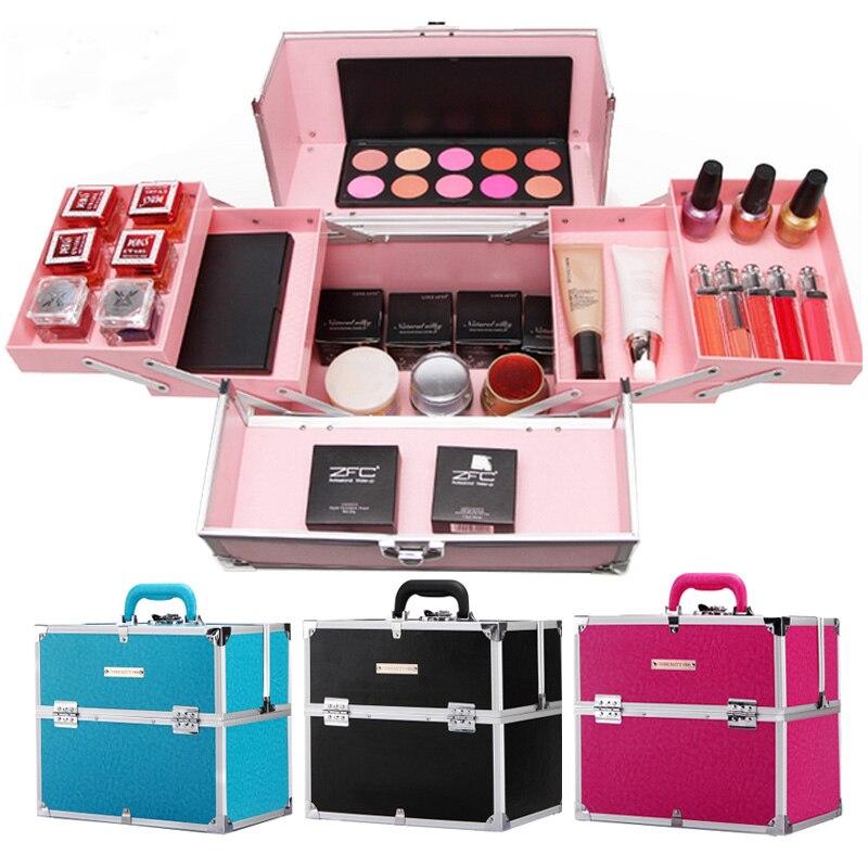 Multi Cas De À Rangement h b Cosmétique fonction Maquillage Boîte A d Professionnel c couche e Multi Portable f Avec Cas Beauté Serrure Couture Outils Nail g 5wxRqTZz