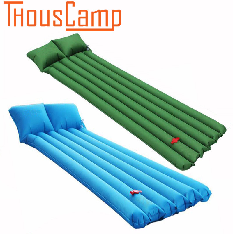 Self Inflating Sleeping Pad with Pillow Lightweight Compact Waterproof Foam Padding Mat for Camping Backpacking Hiking Fishing