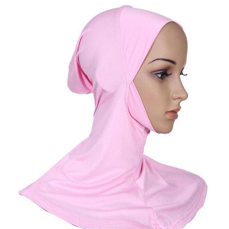 Women Under Scarf Hat Cap Bone Bonnet Hijab Islamic Band Neck Cover Head Wear