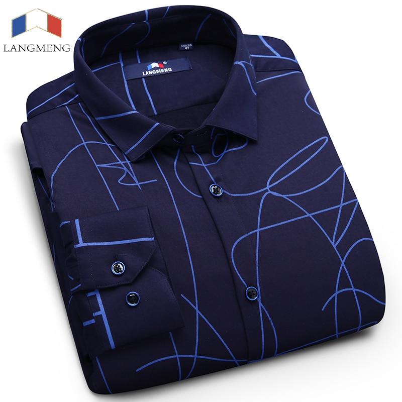f14e5012b4d Langmeng men warm oxford shirt men 100% cotton velvet thickening dress shirts  mens solid color casual shirts camisa masculina