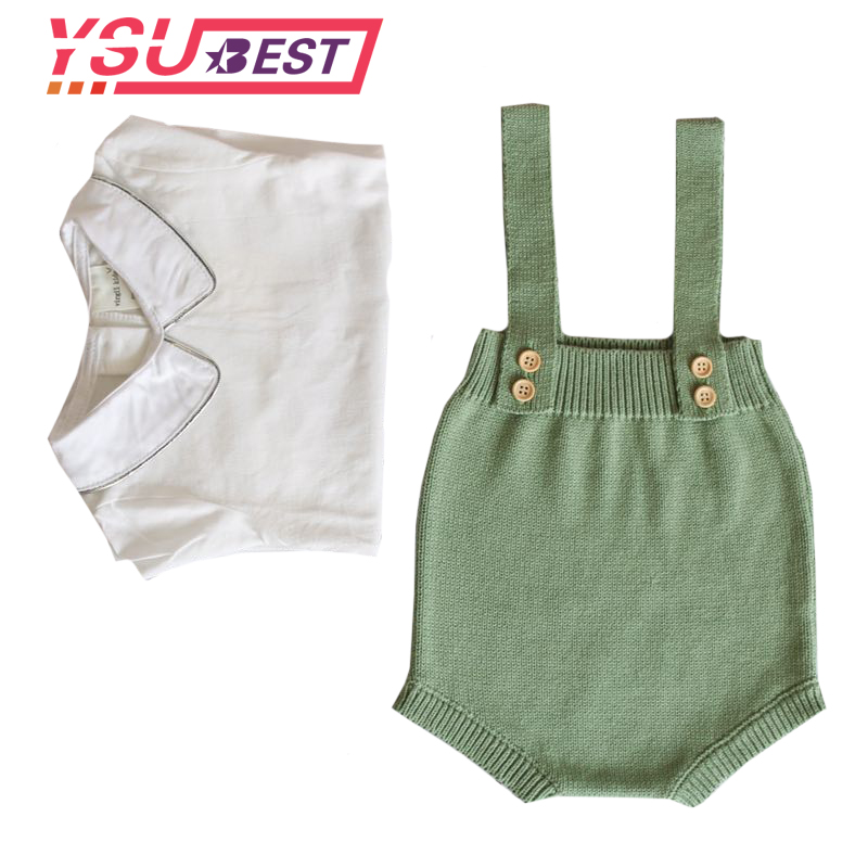 2019 New Baby Knitted   Rompers   Overalls Newborn Baby Boys Girls Clothes Infantil Baby Sleeveless   Romper   Jumpsuit Girls   Romper