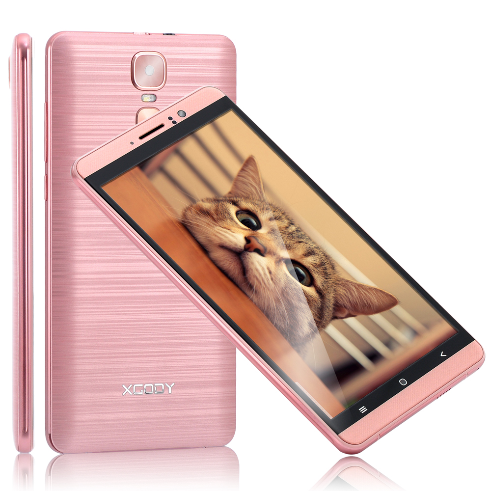 XGODY 3G Dual Sim Smartphone 6 Inch Android 5.1 1GB RAM 8GB ROM MTK6580 Quad Core Mobile Phone 5MP Camera WiFi Telefone Celular-in Cellphones from Cellphones & Telecommunications    2
