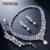 FEEROW Clássico Banhado A Prata Conjunto de Jóias Gota de Água Forma Cúbicos de Zircônia Conjuntos De Jóias Para As Mulheres Bijoux FWSP236