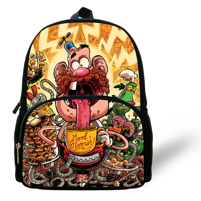 12 Inch Popular Kids Cartoon Backpacks For Preschool Uncle Grandpa ...