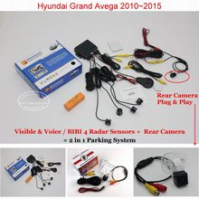 Liislee для Hyundai Гранд авега 2010 ~ 2015-автомобиль Сенсоры парковочные + заднего вида Камера = 2 в 1 визуальный /Биби сигнализация парковка Системы