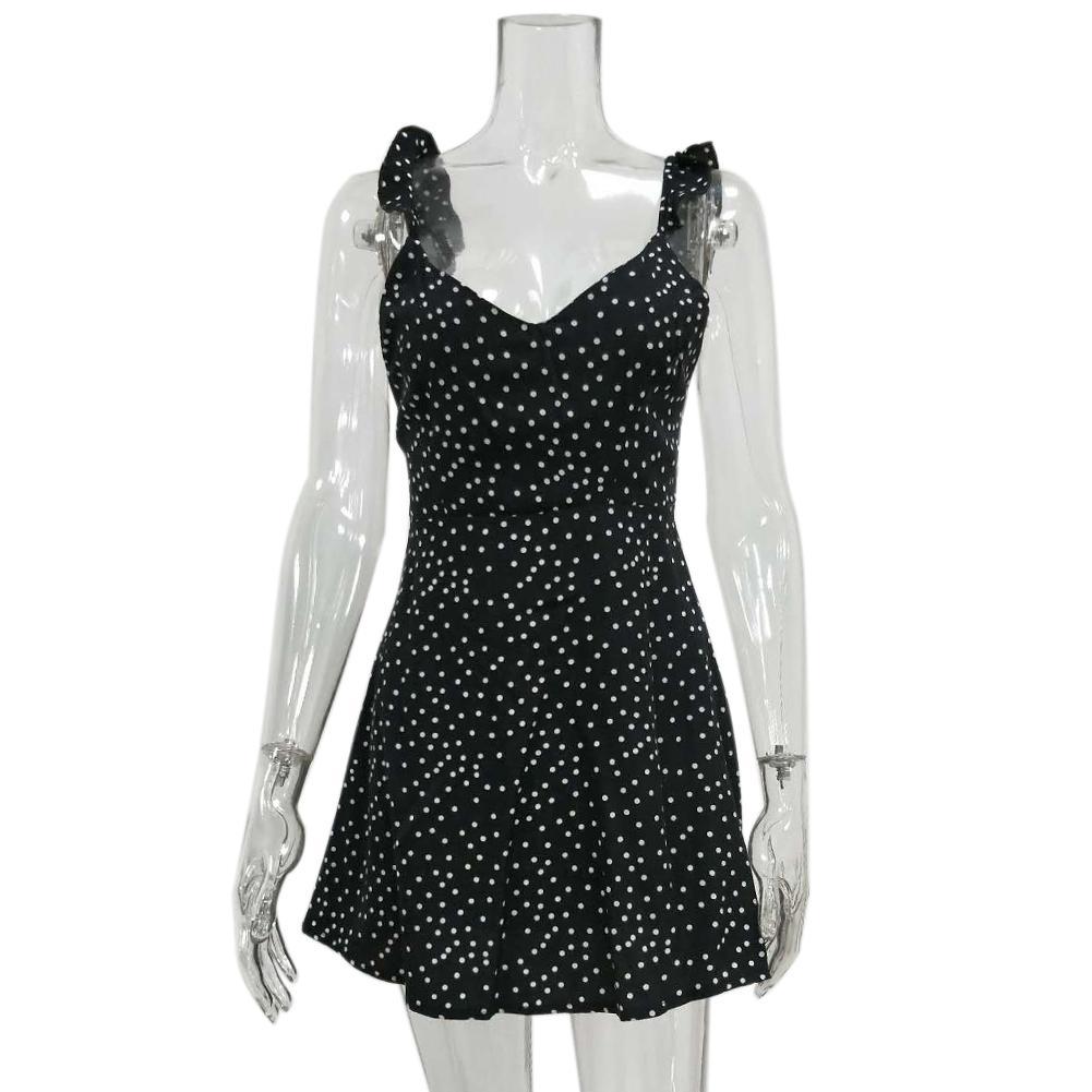Mini Robe MISSKY sans manches col en V pour femmes taille S-XL 4
